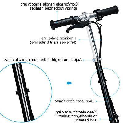 Electric Scooter Adjustable Kids Rechargeable Folding Motorized Bike