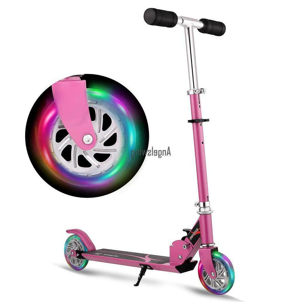 Kids Age 3-16 Scooters LED_Wheels