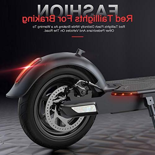TOMOLOO with Foldable Design, Miles Long-Range, 15.5 MPH, Foldable E-Scooter Air Filled Cruise Control, Headlight, Includes
