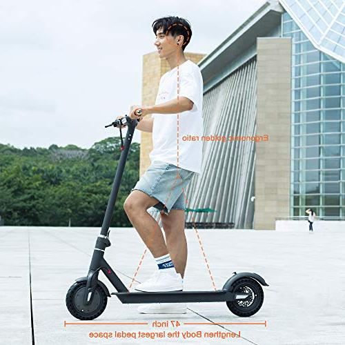 TOMOLOO with Foldable Design, Miles 15.5 Portable Foldable E-Scooter with Air Cruise Control,
