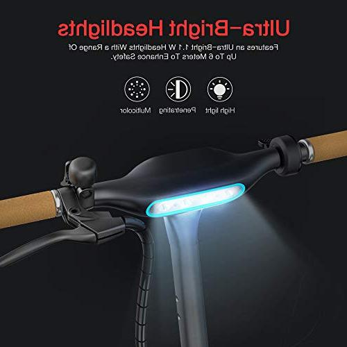 TOMOLOO Electric Scooter with Foldable Design, 18.6 Miles Long-Range, Up to 15.5 MPH, Portable and Foldable with Air Filled Tires, Control, Headlight, Includes