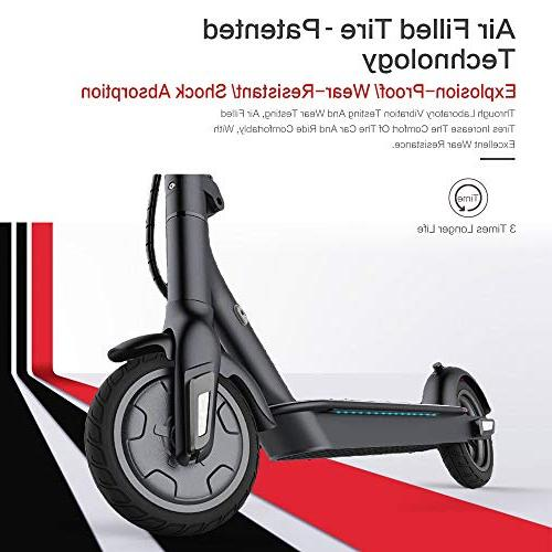TOMOLOO L1 with Foldable Design, 18.6 Miles Up 15.5 MPH, Portable Foldable E-Scooter Air Control, Speedometer