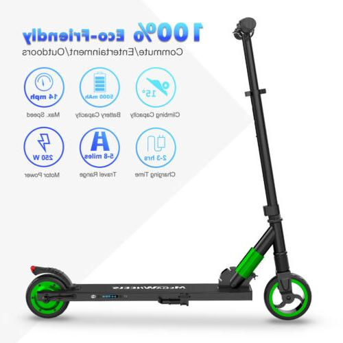 Megawheels Green Electric City Scooter 250W Foldable Kick