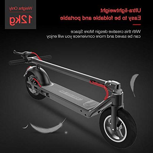 RND Scooter with Control Accelerator, 10.5'' Vacuum Tire, E-ABS Dual 350W Motor Detachable Battery 18.64MPH, Weight 220lbs