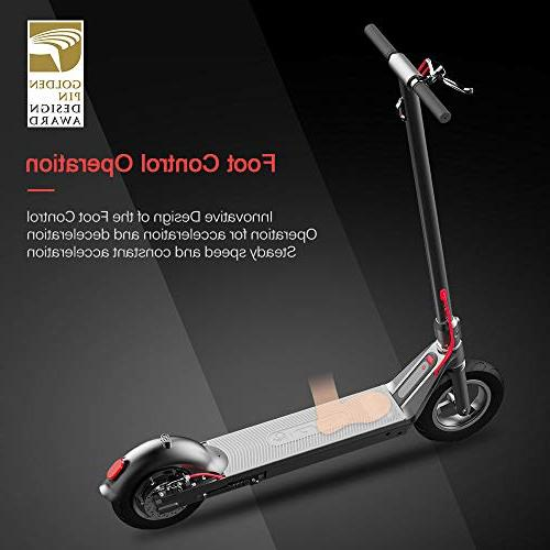 RND Commuting Electric Scooter Foldable with Foot Control Accelerator, Explosion-Proof Vacuum E-ABS Dual Brake, Detachable Max 18.64MPH,