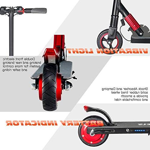 MegaWheels Kick Lightweight Foldable Speed Up to 14MPH-Mileage Miles Electric Kids