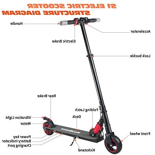 MegaWheels Electric Lightweight Up Miles Scooter Kids