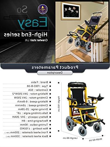 Mobility lbs-Power Wheelchair-Stair Folding Mobility Lifting Devices,Stretcher