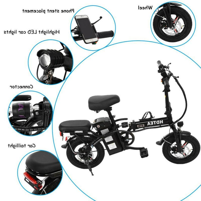 HDTEA Folding Suitable For Adults 250W Ebike with Lithium