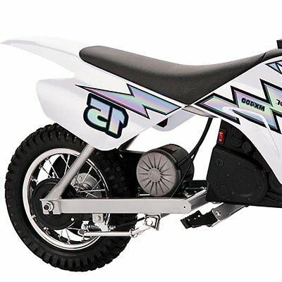 Razor MX400 24V Toy Motorcycle Dirt Bike, White