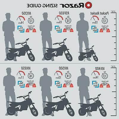 Razor High-Torque Bike, MPH, Orange