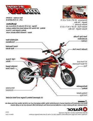 Razor Dirt Rocket High-Torque Bike, 15 MPH,