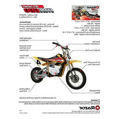 Razor MX650 Electric Motocross Bike