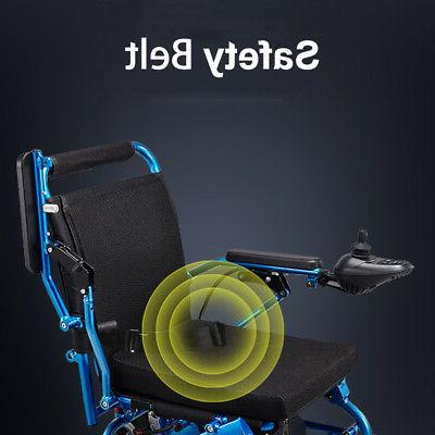 NEW 110/220V Portable Folding Mobility Old Elderly Electric Wheelchair