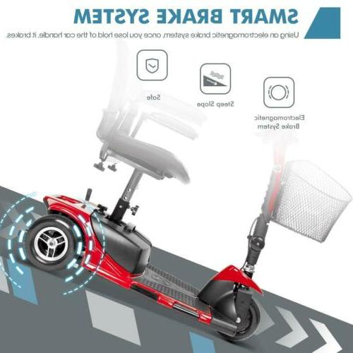 NEW 3-Wheel Mobility Electric Wheelchair Device - Folding