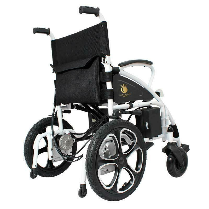 NEW Foldable Electric Wheelchair Lightweight Durable Power Wheelchair