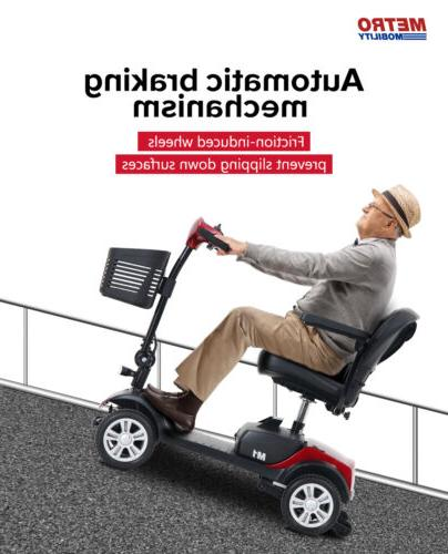 New Folding Electric Mobility Scooter 4 Wheel Travel