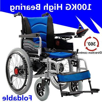New Folding Electric Wheelchair Elderly Scooter Dual