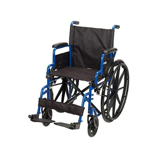 new medical blue streak wheelchair flip back
