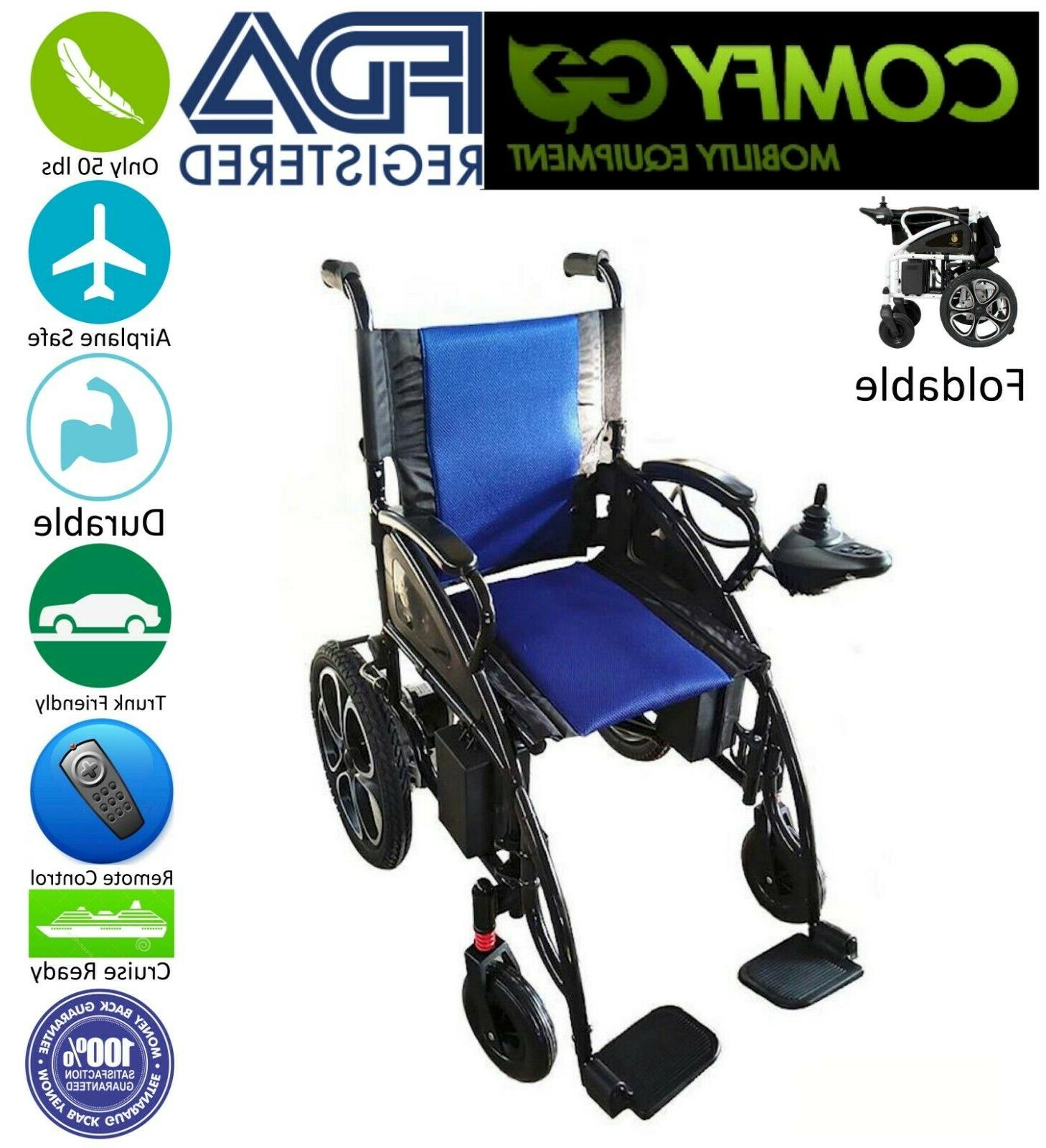 2019 New FDA Approved Blue Foldable Lightweight Electric Sco