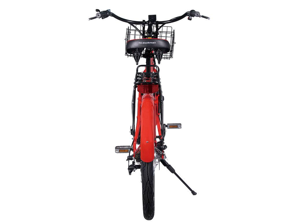 X-Treme Newport Electric Beach Cruiser Bicycle -RED, Free Shipping