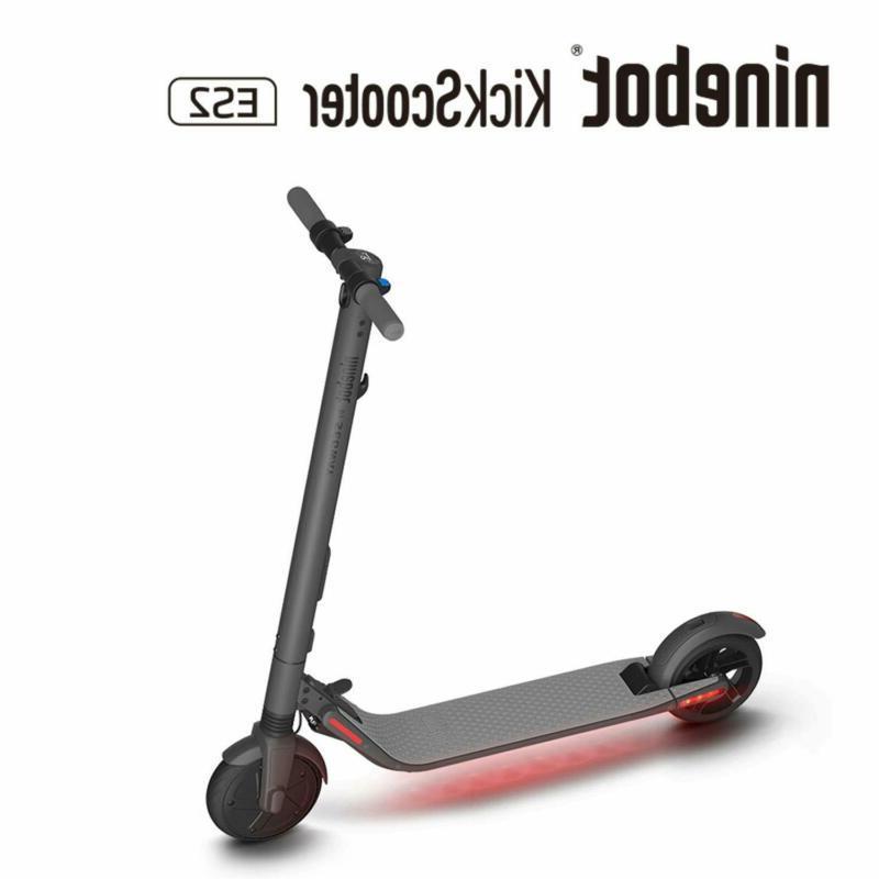 ninebot es2 folding electric kick scooter dark