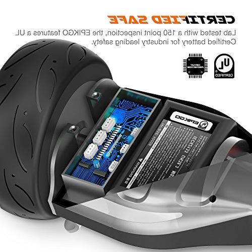 EPIKGO Sport Self Balancing Board All-Terrain Racing 400W Dual-Motor,LG Board Over Tough Road Condition-Black