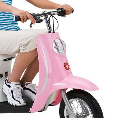 Razor Electric Retro Scooter + Youth Multi Helmet