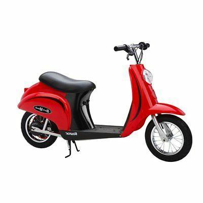 Razor Electric Retro Scooters, Red 2 + Helmet