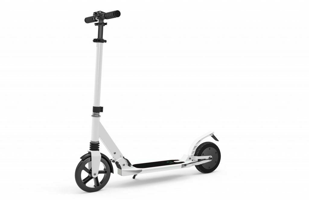 power assist eleric scooter lightweight fordable white