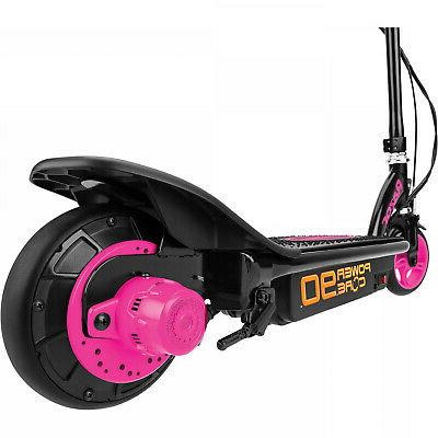 Kids Electric Scooter 8 Steel 80mins Pink