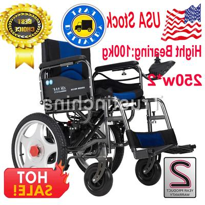Portable Folding Wheelchairs Elderly Disabled Dual