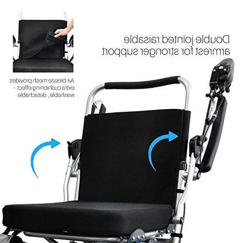 lb+3.5 per Li-ion Battery, Longest Power Wheelchair.