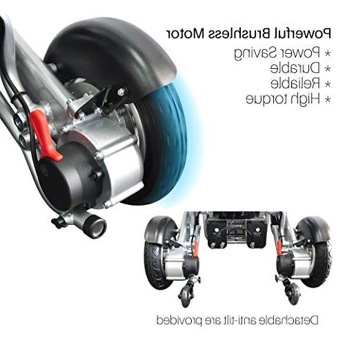 Foldawheel PW-1000XL Only lb+3.5 lb per Battery, Power Wheelchair.