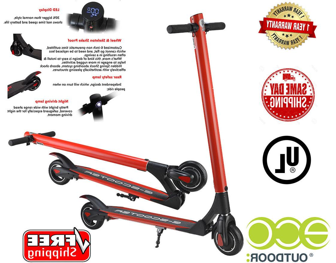 Red Electric Scooter, Battery Scooters