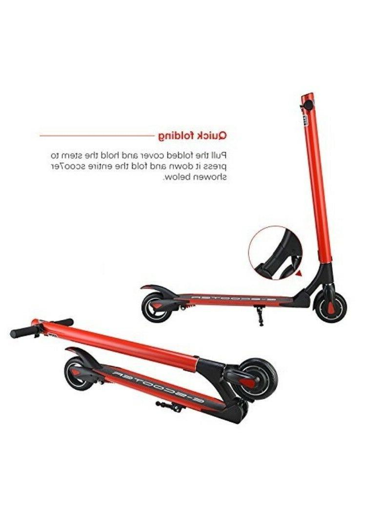 Red Scooter, Li-ion Battery Electric Scooters Adult