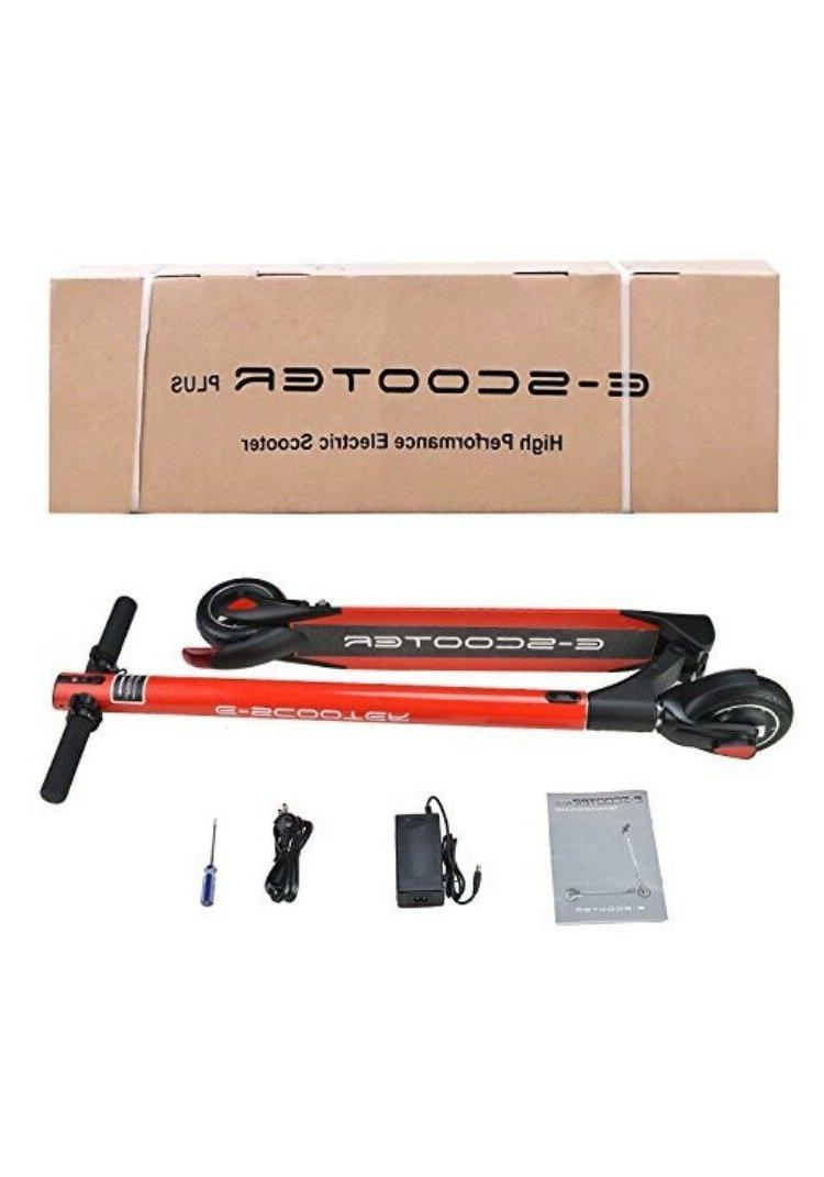 Red Scooter, Li-ion Battery 24V/4.4AH Electric Scooters For