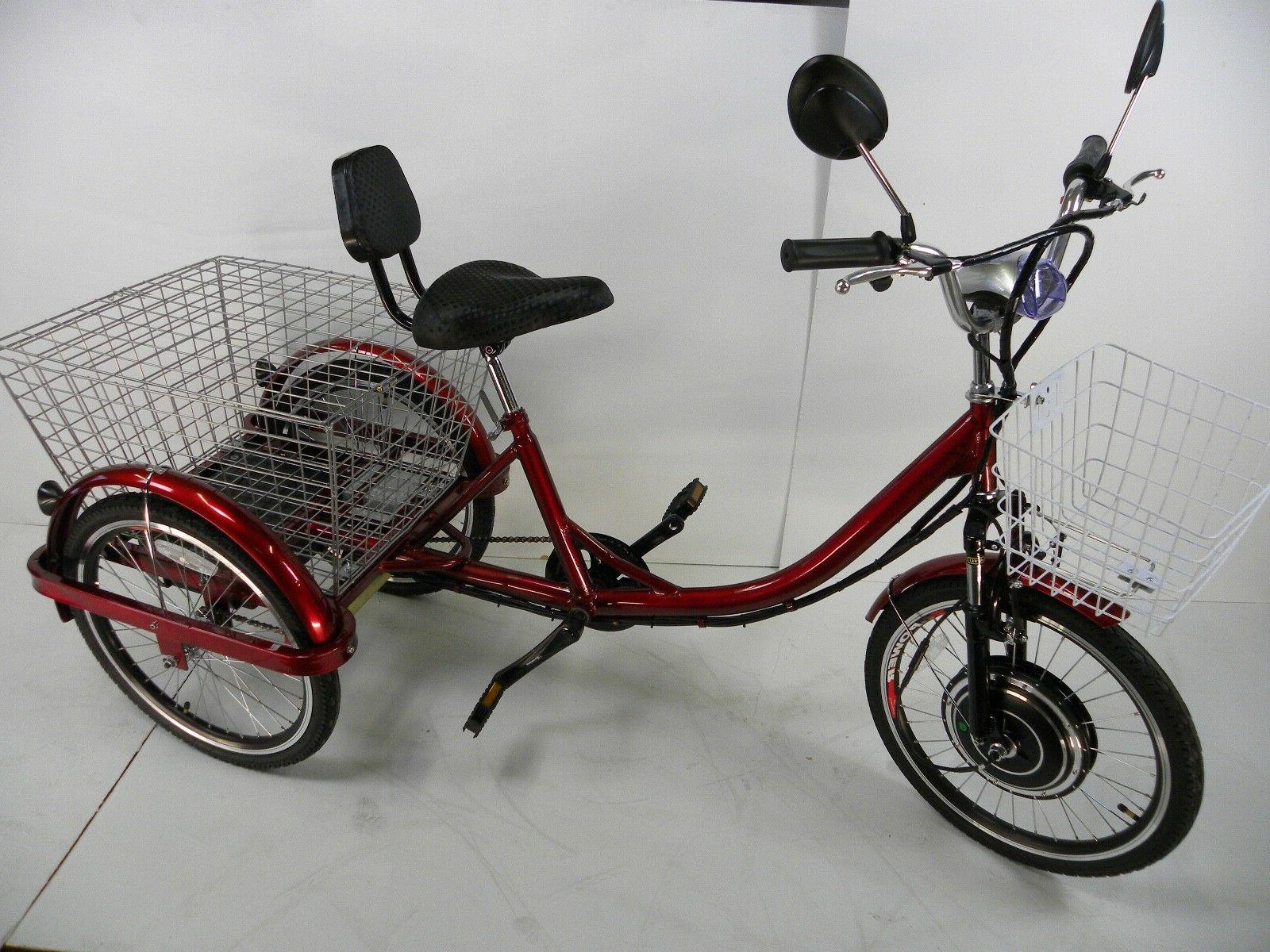 red electric tricycle scooter for adults motorized