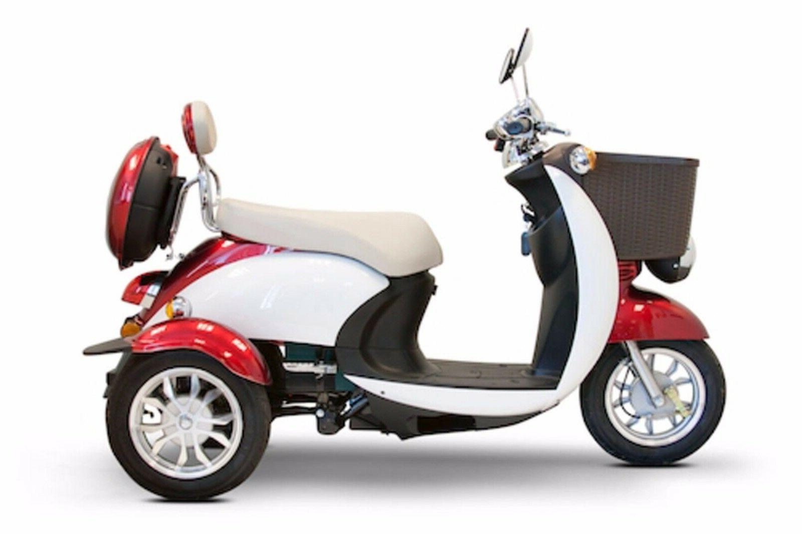 Red & White EW-11 Sport Electric Scooter, 3 2 Riders