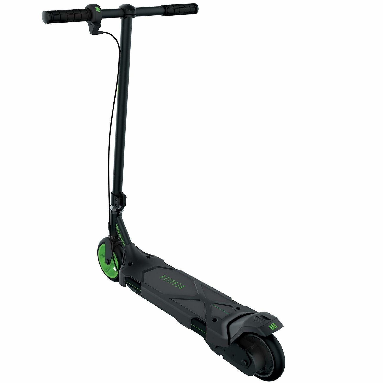Revster 200 Electric Scooter Black Green Battery 8+ 2-in-1 Brake
