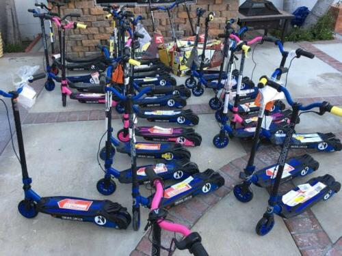 revster electric scooter black pink blue