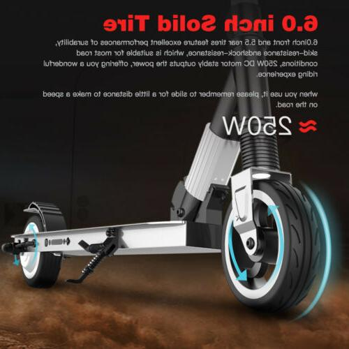 Waterproof White Folding Adult Kick Electric Scooter Ultrali