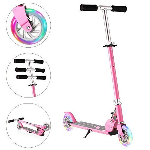 Hikole Boys Girls | 2 Wheel Foldable Adjustable Birthday Present 10