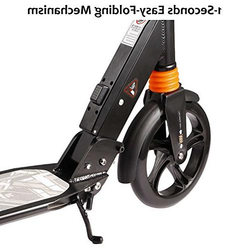 kids/Adult Scooter with Seconds Easy-Folding Folding Adjustable Scooter Disc Brake 200mm Large