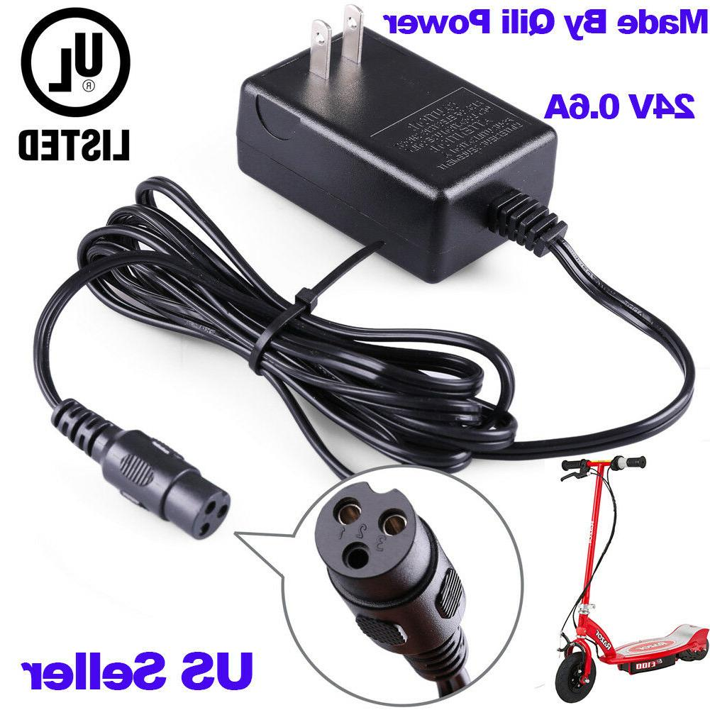 QILI 24V Scooter Battery Charger for Razor E175 E125 E150 Sw