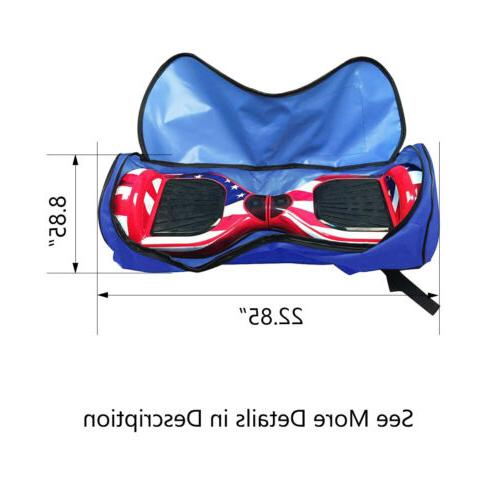 """Scooter Bag for 6.5"""" 7"""" Two-Wheel Electric Skate Blue"""