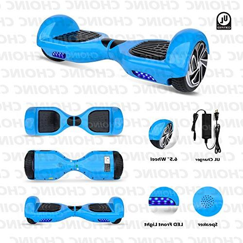 Smart Electric Hoverboard - Wheel Segway Scooter Battery, Accessories, MPH For Kids Adults - PSCOOT33BL