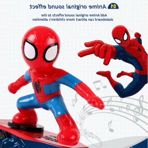 Spiderman 2.4GHZ Stunt Skateboard 360° Rotation Sound Toy