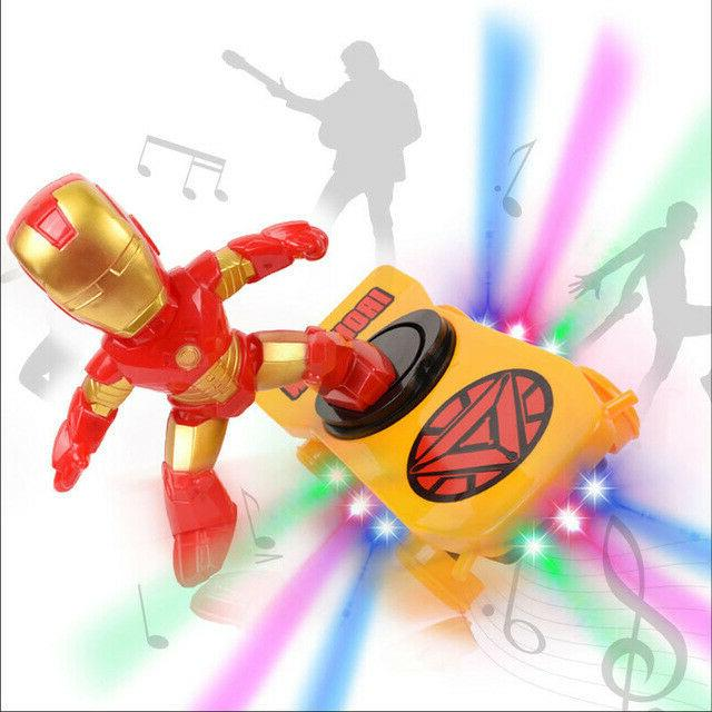 Spiderman/Iron man Scooter Electric Car Music led Light Toys