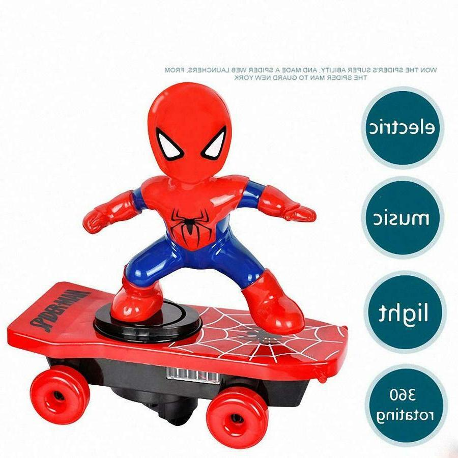 Spiderman/Iron Electric Car Stunt Light Toys